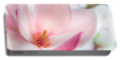 Pink Magnolia Portable Battery Charger by Denise Bird