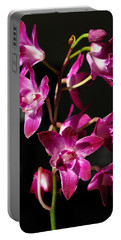 Pink Orchid Portable Battery Charger by Eva Csilla Horvath