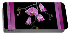 Portable Battery Charger featuring the photograph Framed Orchid Spray by Patti Deters