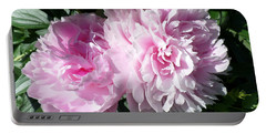 Pink Peonies 3 Portable Battery Charger