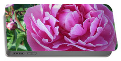 Pink Peony Portable Battery Charger by Barbara Griffin