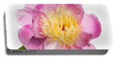 Pink Peony Flower Portable Battery Charger