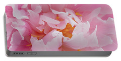 Pink Peony Flower Waving Petals  Portable Battery Charger