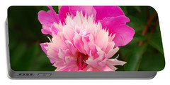 Pink Peony Portable Battery Charger by Mary Carol Story