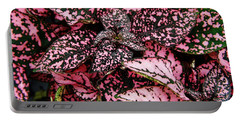 Pink - Plant - Petals Portable Battery Charger