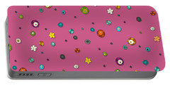Pink Pop Flower Spot Portable Battery Charger