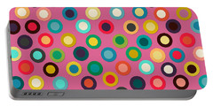 Pink Pop Spot Portable Battery Charger