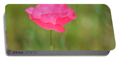 Pink Poppy Portable Battery Charger by P S