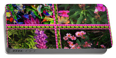 Pink Purple Flowers Captured At The Riverside Ridge At Oakville Ontario Canada Collage Beautiful     Portable Battery Charger