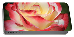 Portable Battery Charger featuring the photograph Pink Rose by Athala Carole Bruckner