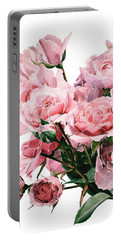 Pink Rose Bouquet Portable Battery Charger by Greta Corens