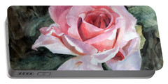 Pink Rose Greg Portable Battery Charger by Greta Corens
