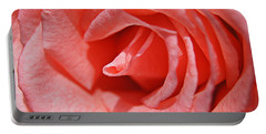 Pink Rose Portable Battery Charger by Kathy Churchman