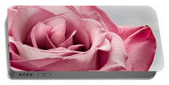 Pink Rose Macro Portable Battery Charger