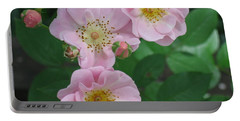 Portable Battery Charger featuring the photograph Pink Roses by HEVi FineArt