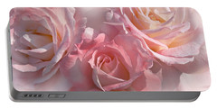 Pink Roses In The Mist Portable Battery Charger