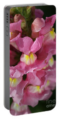 Pink Snapdragon Flowers Portable Battery Charger by Joy Watson