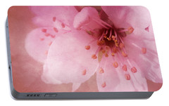 Portable Battery Charger featuring the photograph Pink Spring Blossom by Ann Lauwers