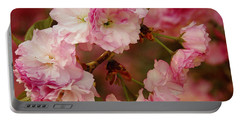 Pink Spring Blossoms Portable Battery Charger