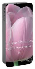 Pink Spring Tulip Portable Battery Charger