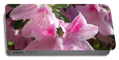 Portable Battery Charger featuring the photograph Pink Star Azaleas In Full Bloom by Connie Fox