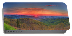 Pink Sunrise At Skyline Drive Portable Battery Charger
