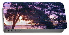 Portable Battery Charger featuring the photograph Pink Sunrise by Rogerio Mariani