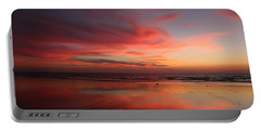 Ocean Sunset Reflected  Portable Battery Charger
