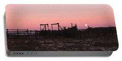 Pink Sunset Over Corral Portable Battery Charger