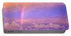 Pink Sunset Rainbow Portable Battery Charger