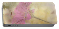 Portable Battery Charger featuring the photograph Pink Textured Gazania by Sandra Foster
