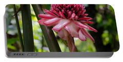 Pink Torch Ginger Portable Battery Charger by Laurel Best