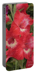 Pink Trumpet Painting In Digital Oil Portable Battery Charger