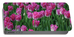 Portable Battery Charger featuring the photograph Pink Tulips 2 by Allen Beatty