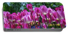 Portable Battery Charger featuring the photograph Pink Tulips by Allen Beatty
