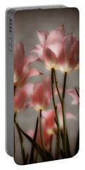 Pink Tulips Glow Portable Battery Charger