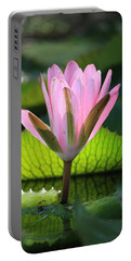 Pink Water Lilly Portable Battery Charger