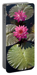 Pink Water Lily IIi Portable Battery Charger