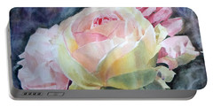 Pink Yellow Rose Angela Portable Battery Charger by Greta Corens