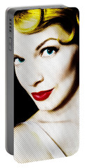 Pinup Girl Portable Battery Charger by Diane Diederich