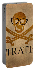 Pirate Math Nerd Humor Poster Art Portable Battery Charger