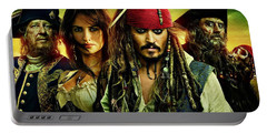 Pirates Of The Caribbean Stranger Tides Portable Battery Charger by Movie Poster Prints