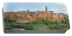 Pitigliano Panorama Portable Battery Charger by Alan Socolik