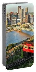 Pittsburgh Duquesne Incline Portable Battery Charger by Adam Jewell
