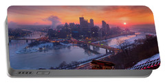Pittsburgh Skyline Winter 2 Portable Battery Charger