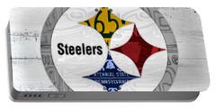 Pittsburgh Steelers Football Team Retro Logo Pennsylvania License Plate Art Portable Battery Charger