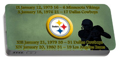 Pittsburgh Steelers Super Bowl Wins Portable Battery Charger