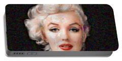 Pixelated Marilyn Portable Battery Charger