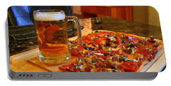 Pizza And Beer Portable Battery Charger
