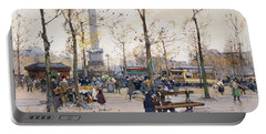 Place De La Bastille Paris Portable Battery Charger